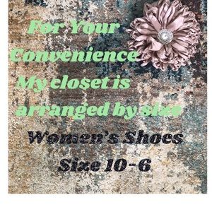 Women's Shoes Sized From 10 to Size 6